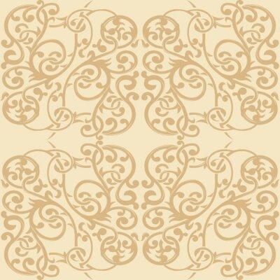 Naklejka Kwiatowy ornament bez szwu wzór 2