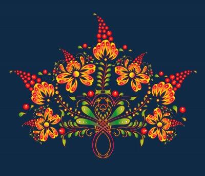Naklejka kwiatowy wzór