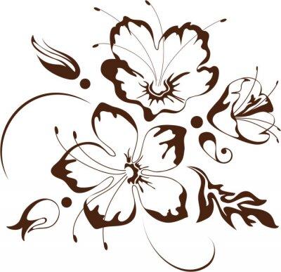 Naklejka Kwiatowy wzór, ilustracji wektorowych