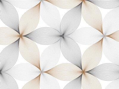 Naklejka Kwiatowy wzór wektora, powtarzanie liniowy płatek kwiatu, powtórzenie wzoru geometrycznego wektora