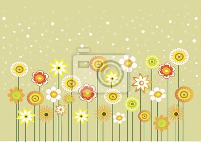Naklejka Kwiaty i pęcherzyki