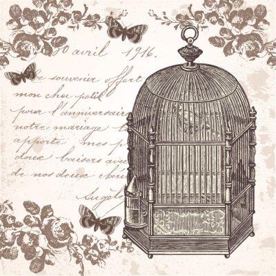 Naklejka La Cage aux oiseaux