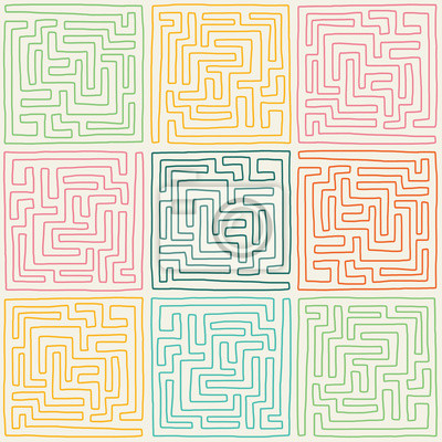 Naklejka Labirynt wzór