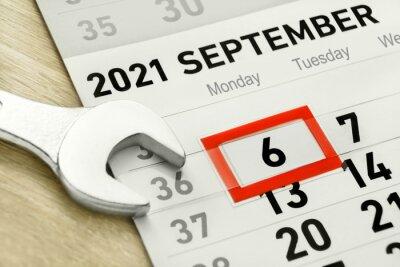 Naklejka Labor Day  September 6  2021 and tool close up