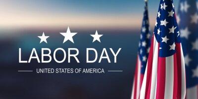 Naklejka Labor Day USA