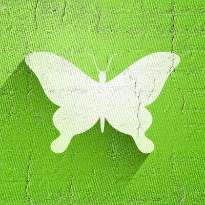 Naklejka ładne ikony motyla