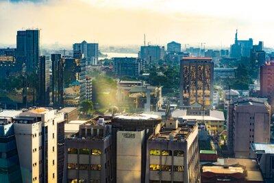 Naklejka Lagos city skyline