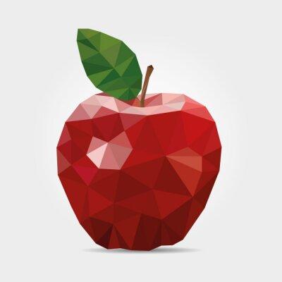 Naklejka Łamana Red Apple w wektorze