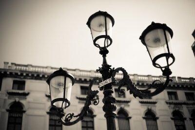 Naklejka lampa uliczna