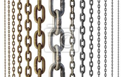 Naklejka Łańcuch metalowy