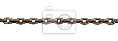 Naklejka łańcuch stalowy na białym tle
