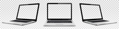 Naklejka Laptop mock up with transparent screen isolated