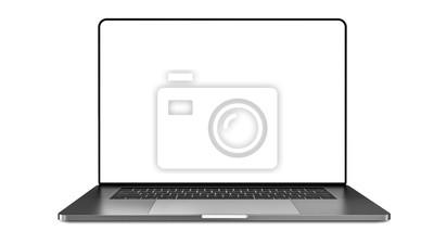 Naklejka Laptop template isolated on white. Mockup.