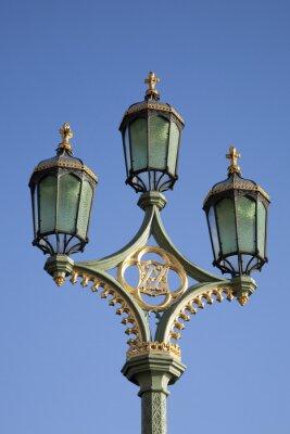 Naklejka Latarni na Westminster Bridge, Londyn, Anglia, Wielka Brytania