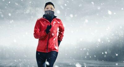 Naklejka Läuferin w Schnee