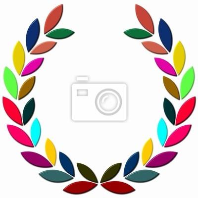 Laurowy wieniec kolorowe 3d