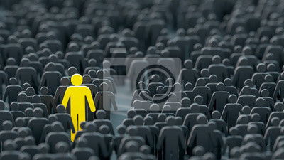 Naklejka Leader and role model, business and teamwork concepts; original 3d rendering