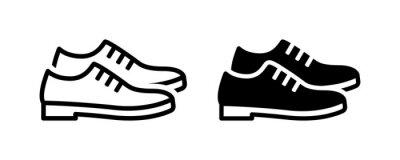 Naklejka Leather derby shoe or man footwear icon vector illustration.