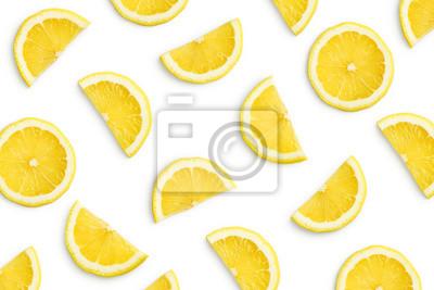 Naklejka Lemon slices as pattern