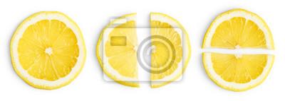 Naklejka Lemon slices isolated