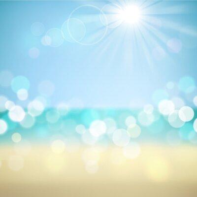 Naklejka Letnie wakacje tropikalna plaża tle