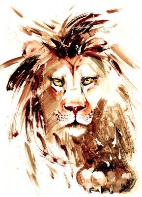 Naklejka lew