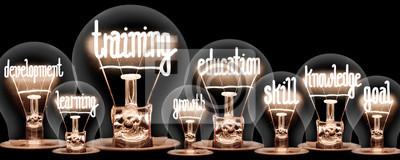 Naklejka Light Bulbs Concept