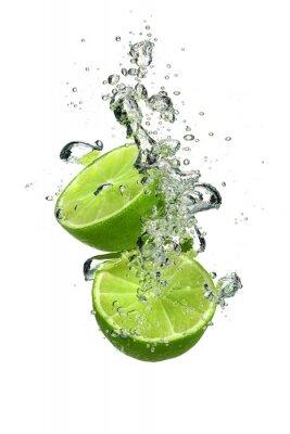 Naklejka Lime wodą