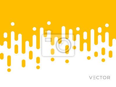 Naklejka Line transition pattern background, abstract irregular geometric texture. Creative digital liquid graphic design, vector yellow white color halftone line pattern background