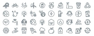 Naklejka linear pack of eco line icons. linear vector icons set such as eco, eco, vector illustration.