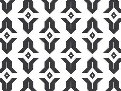Naklejka linear vector pattern, repeating abstract Geometry background, gray line of leaf or flower, floral. graphic clean design for fabric, wallpaper etc. pattern is on swatches panel.