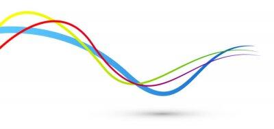 Naklejka linee, sfondo, decorazione, astratto