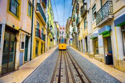 Naklejka Lizbona, Portugalia Old Town Pejzaż i tramwajowy