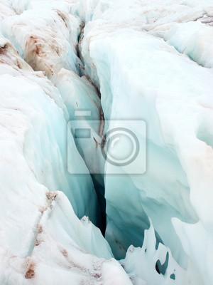 Lodu w lodowcu jako tło.
