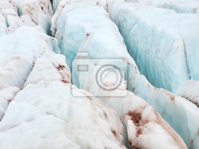 Naklejka Lodu w lodowcu jako tło.