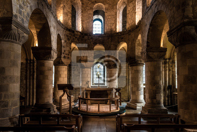 Naklejka LONDON, ENGLAND, DECEMBER 10th, 2018: Chapel of St John the Evangelist inside the White Tower building at the Tower of London, royal palace and castle by the River Thames in London, England