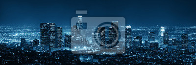Naklejka Los Angeles w nocy