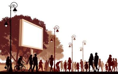 Naklejka Ludzie idący