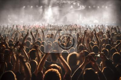 Naklejka Ludzie na koncert