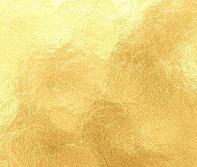 Naklejka luksusowe złotym tle z marmurkowym crinkled folii tekstury, starym eleganckim żółtym papierze z teksturą zagniecenia