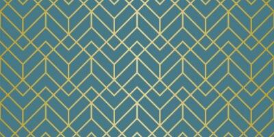 Naklejka Luksusowy wzór geometryczny. Bezszwowe linie wektorowe. Złoty wygląd.