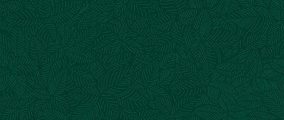 Naklejka Luxury Nature green background vector. Floral pattern, Tropical plant line arts, Vector illustration.