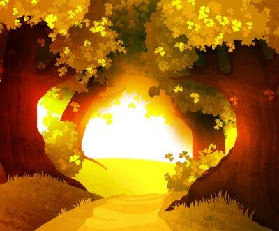 Naklejka Magia słońca w lesie