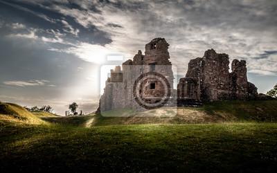 Naklejka Magiczny wspaniały moody widok Brough kasztel w Cumbria, Anglia UK