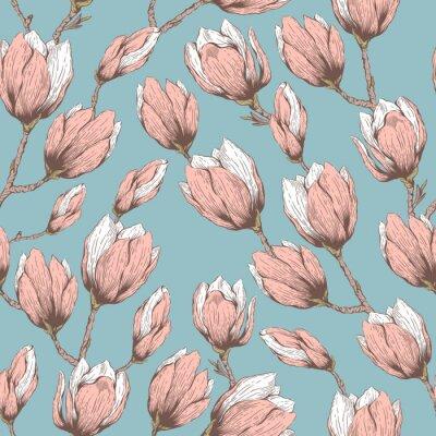 Naklejka Magnolia szwu wzór