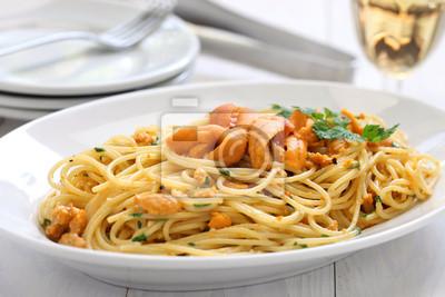 Makaron Z Jeżowca Ikry Kuchnia Włoska Naklejki Redro