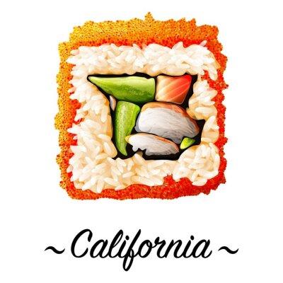 Naklejka Maki-zushi California sushi roll