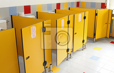 Młodzieńczy Naklejka małe drzwi WC z przedszkola na wymiar • dziecko PS51