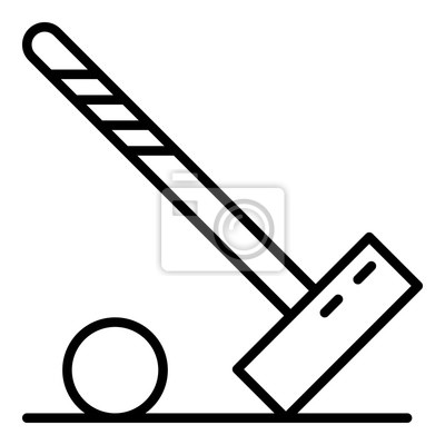 Mallet croquet ball icon. Outline mallet croquet ball vector icon for web design isolated on white background