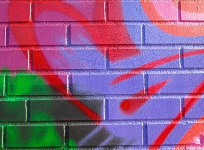 Naklejka Malowane ściany: Kolorowe abstrakcyjny wzór w Szczegółowo Graffiti